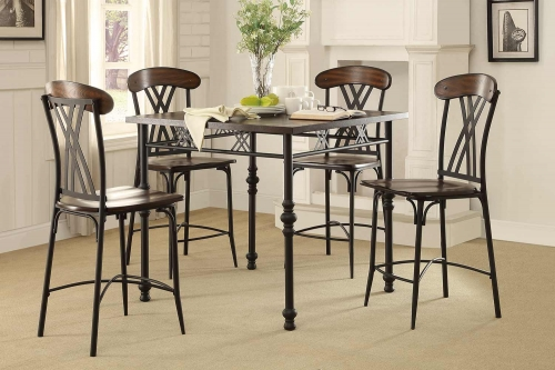 Loyalton Counter Height Dining Set - Wood/Metal
