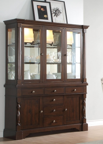Yates China Cabinet - Dark Oak