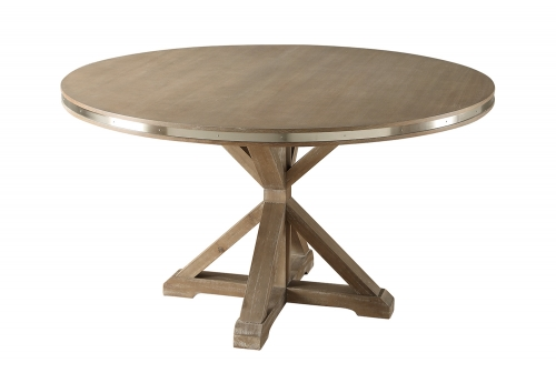 Homelegance Beaugrand Round Dining Table - Brown