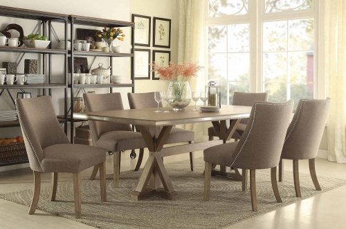 Homelegance Beaugrand Dining Set - Brown