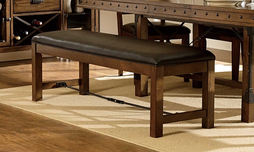 Urbana Bench - Burnished Brown