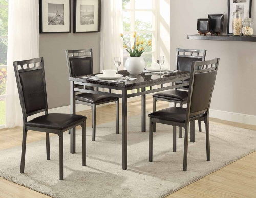 Olney 5-Piece Pack Dinette Set - Metal