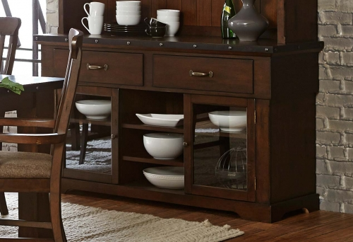 Schleiger Buffet Server - Burnished Brown