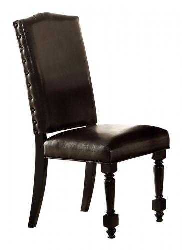 Blossomwood Side Chair - Bi-Cast Vinyl - Cherry/Black