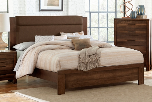 Sedley Upholstered Bed - Walnut