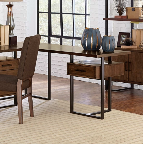 Homelegance Sedley Reversible Return Desk with One Cabinet - Walnut