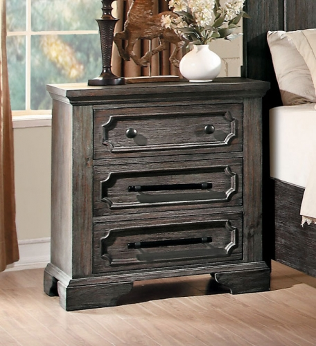 Homelegance Toulon Night Stand - Rustic Acacia