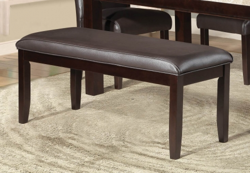 Festus 49-inch Bench - Dark Cherry