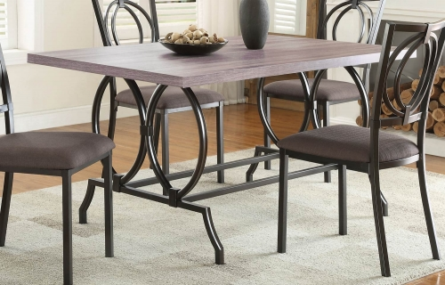 Chama Dining Table - Metal/Wood
