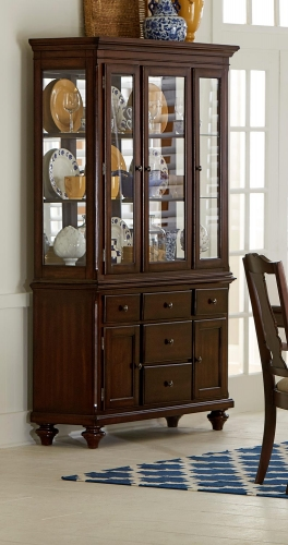Glendive China Cabinet - Brown Cherry