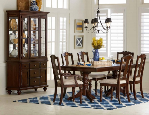 Glendive Dining Set - Brown Cherry