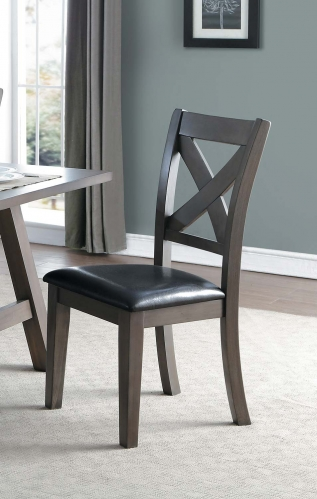 Seaford X-Back Side Chair - Gray tone