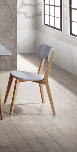 Orpheus Side Chair - Natural Pine Finish/Gray