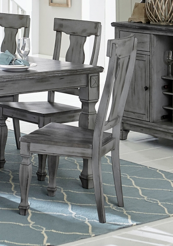 Fulbright Side Chair - Weathered Gray Rub Through Finish