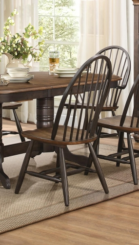Cline Windsor Chair - Two tone finish