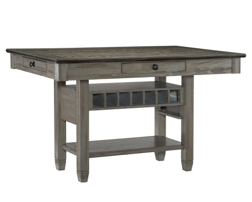 Granby Counter Height DiningTable - Antique Gray and Coffee