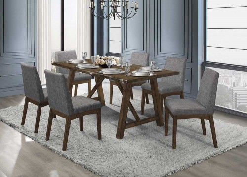 Whittaker Dining Set - Warm Brown and Black