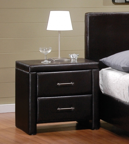 Zoey Night Stand - Dark Brown