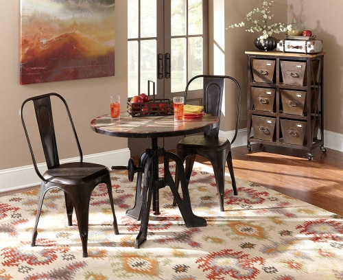 Amara Iron Lift-Top Table Dining Set