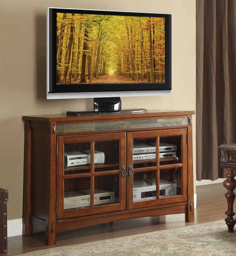 Falls TV Stand - Brown Cherry