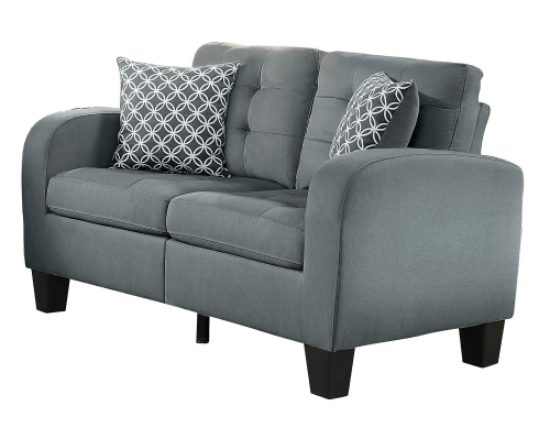 Sinclair Love Seat - Gray Fabric
