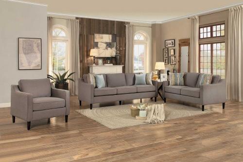 Lotte Sofa Set - Brown Fabric