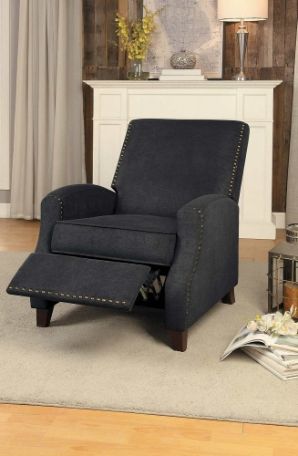 Walden Push Back Reclining Chair - Gray Fabric