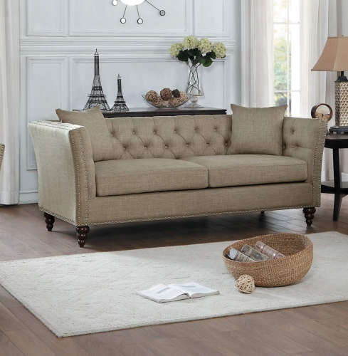 Marceau Sofa - Tan Fabric