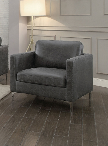 Breaux Chair - Gray Fabric