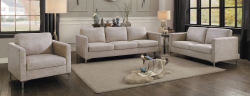 Breaux Sofa Set - Sesame Fabric