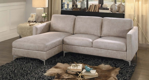 Breaux Sectional Sofa - Sesame Fabric