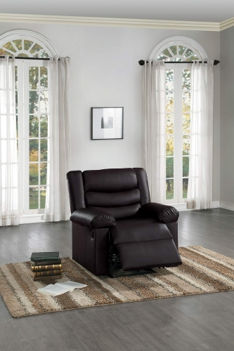 Ridder Power Reclining Chair - Dark Brown Bi-Cast Vinyl