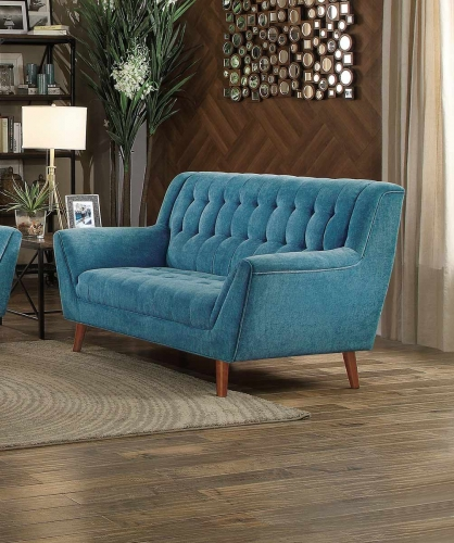 Erath Love Seat - Blue Fabric