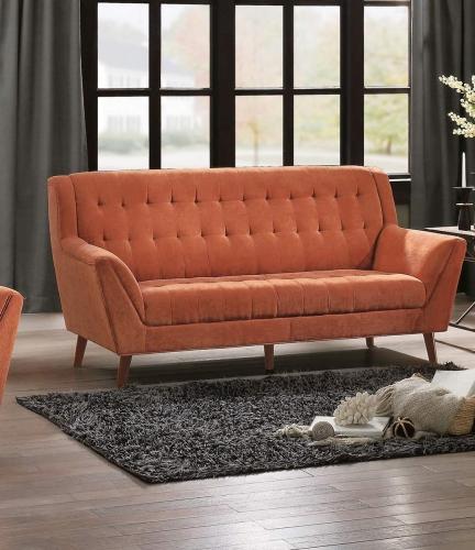 Erath Sofa - Orange Fabric