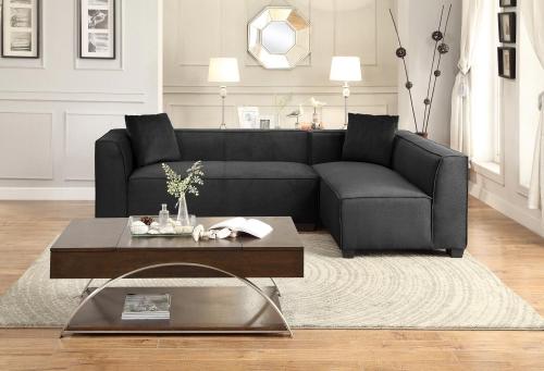 Metz Sectional Sofa Set B - Polyester - Graphite