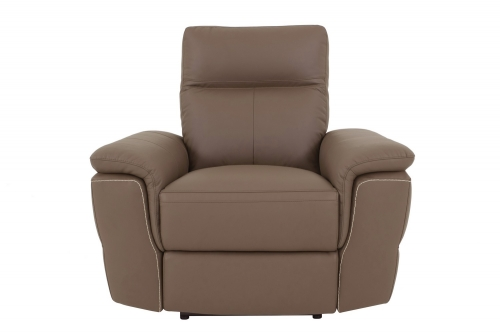Olympia Power Reclining Chair - Top Grain Leather Match - Raisin
