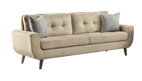 Homelegance Deryn Sofa - Polyester - Beige