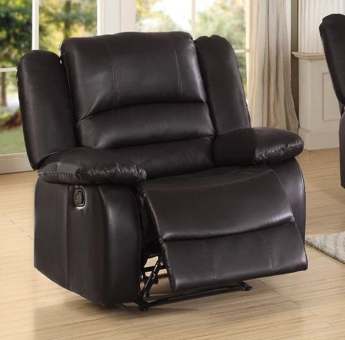 Jarita Reclining Chair - Bi-Cast Vinyl - Brown