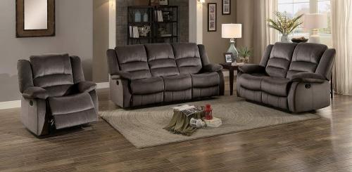 Jarita Reclining Sofa Set - Chocolate Fabric