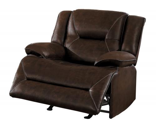 Okello Glider Reclining Chair - Brown AireHyde Match