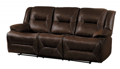 Okello Double Reclining Sofa - Brown AireHyde Match