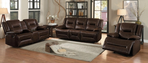 Okello Reclining Sofa Set - Brown AireHyde Match