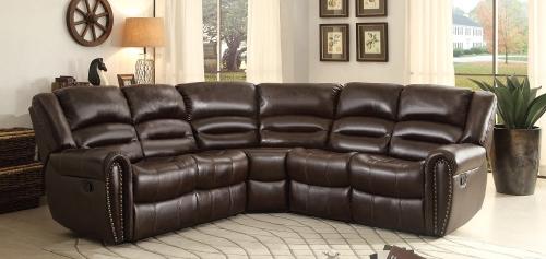 Palmyra Sectional Sofa Set - Dark Brown