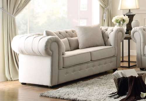 Savonburg Love Seat - Neutral