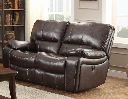 Timkin Power Double Reclining Love Seat - Dark Brown