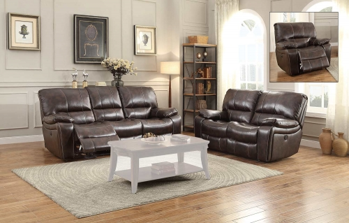 Timkin Power Reclining Sofa Set - Dark Brown