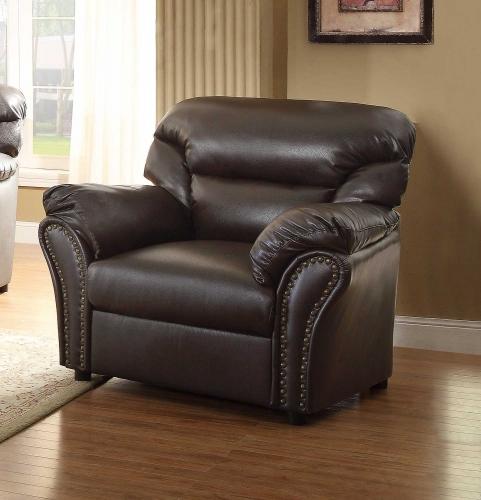 Stinett Chair - Dark Brown