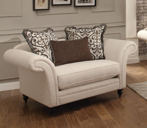 Vicarrage Chair and A Half - Polyester Blend - Cream