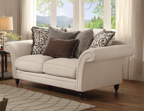 Vicarrage Love Seat - Polyester Blend - Cream