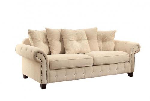 Centralia Sofa - Polyester Blend - Cream